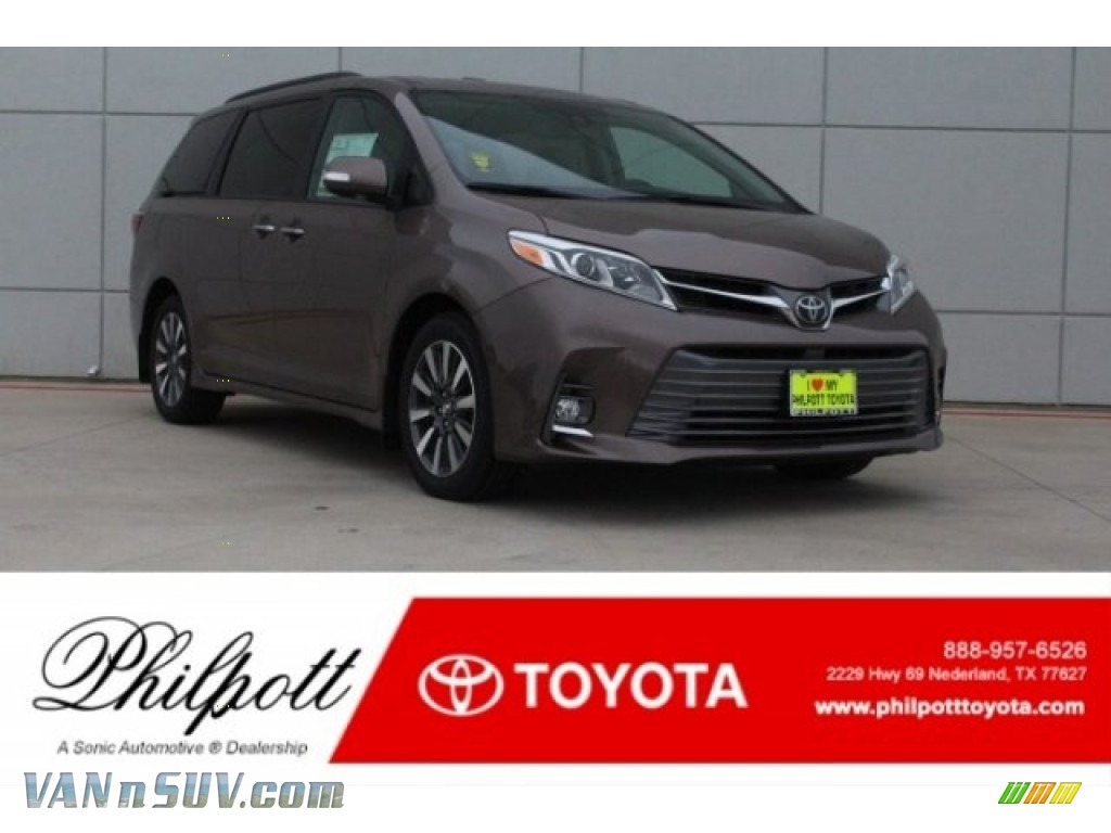 Toasted Walnut Pearl / Gray Toyota Sienna Limited