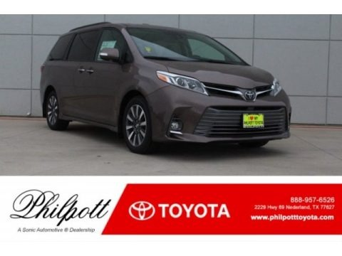 Toasted Walnut Pearl 2018 Toyota Sienna Limited