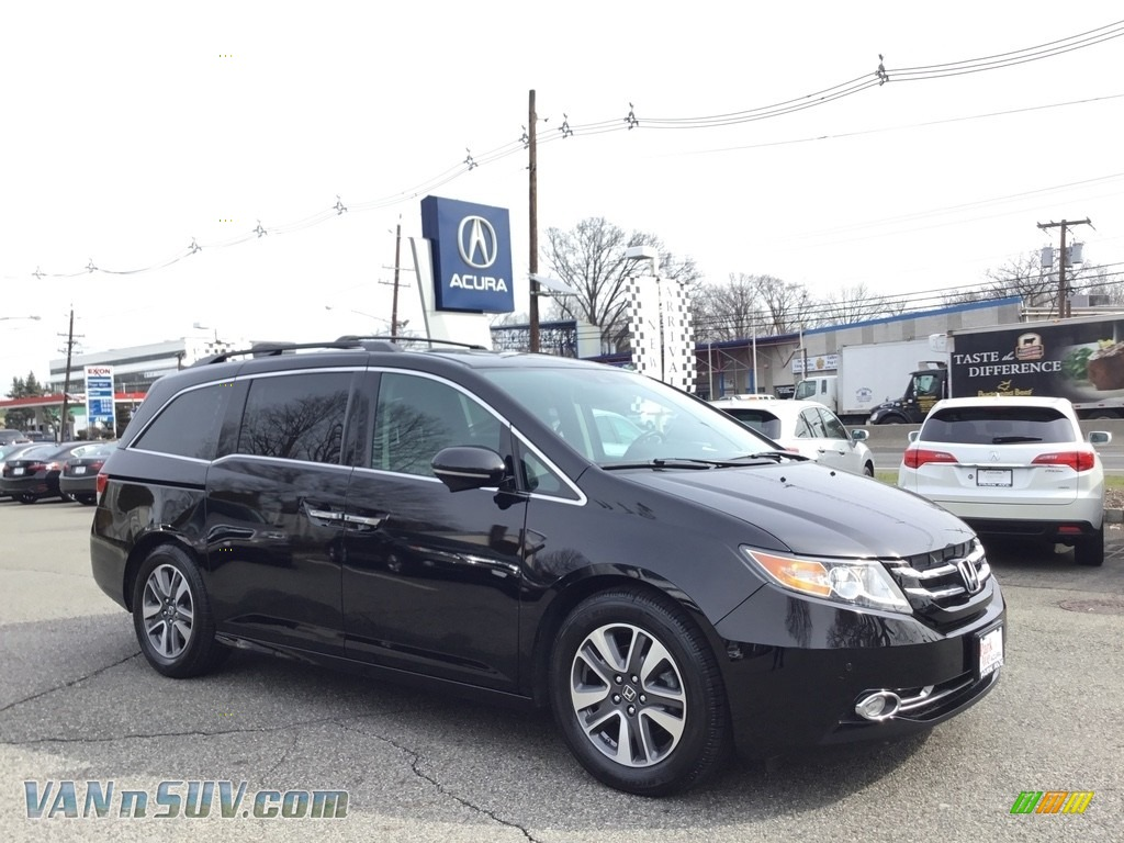 2014 Odyssey Touring - Crystal Black Pearl / Truffle photo #1