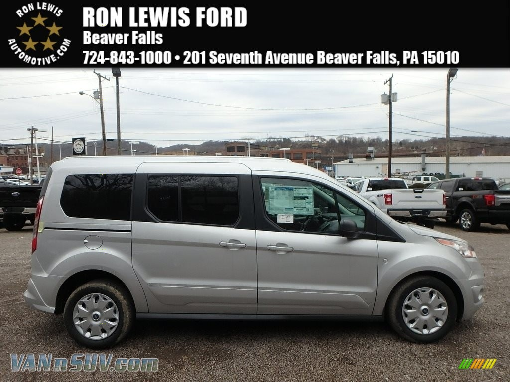Silver / Charcoal Black Ford Transit Connect XLT Passenger Wagon