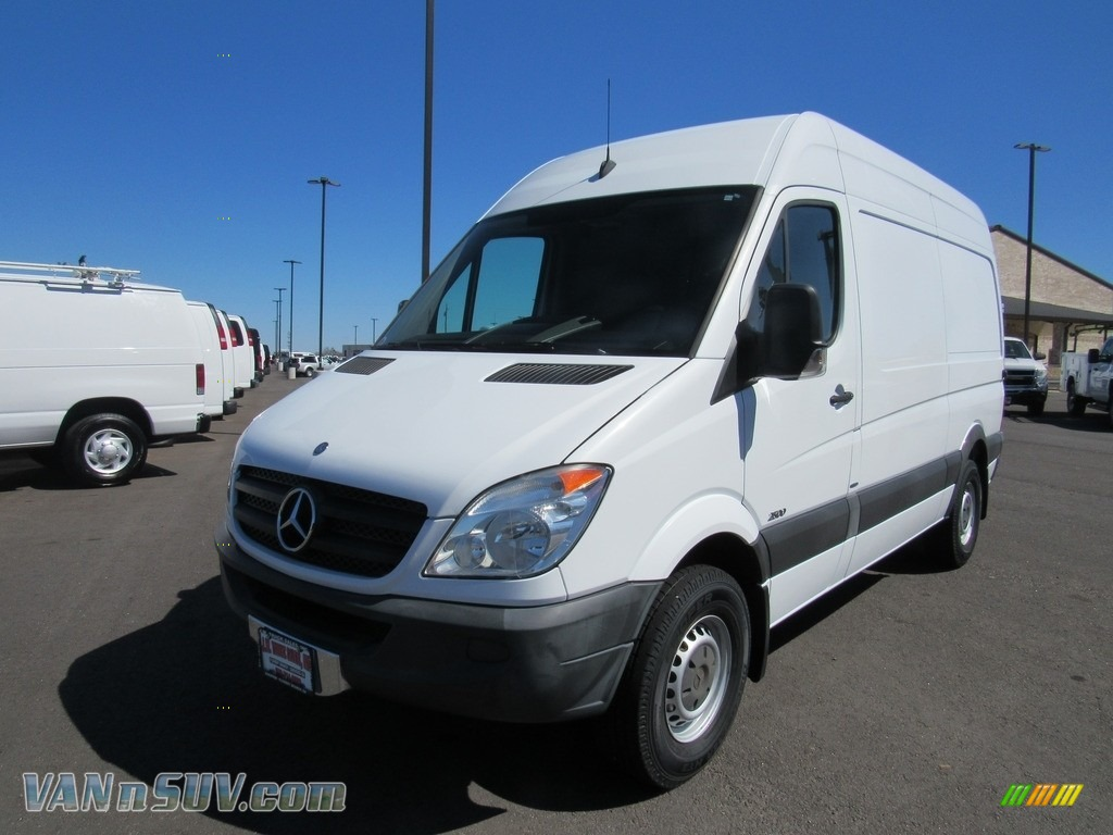 Arctic White / Lima Black Fabric Mercedes-Benz Sprinter 2500 High Roof Cargo Van