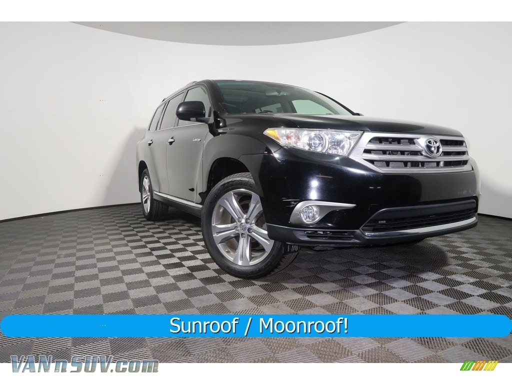2011 Highlander Limited 4WD - Black / Black photo #1