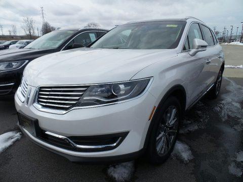 White Platinum Metallic Tri-Coat 2018 Lincoln MKX Reserve AWD