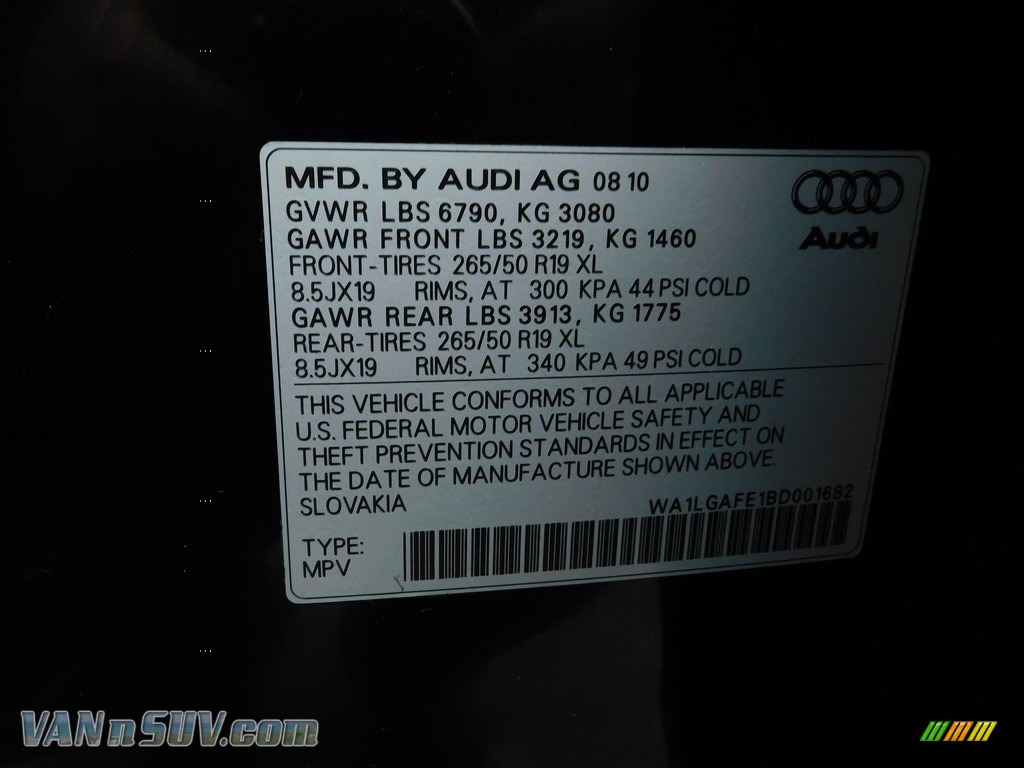 2011 Q7 3.0 TFSI quattro - Orca Black Metallic / Espresso Brown photo #50