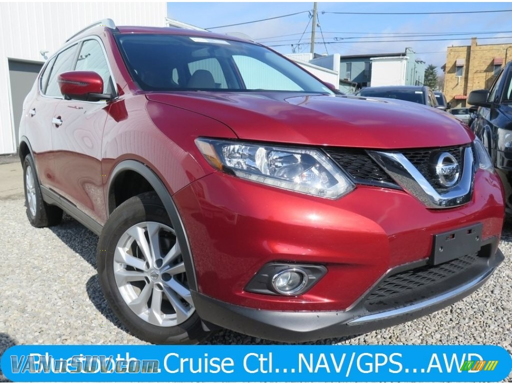 Cayenne Red / Almond Nissan Rogue SV AWD