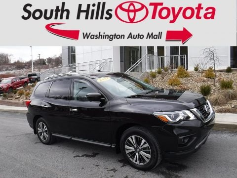 Magnetic Black 2017 Nissan Pathfinder SL 4x4