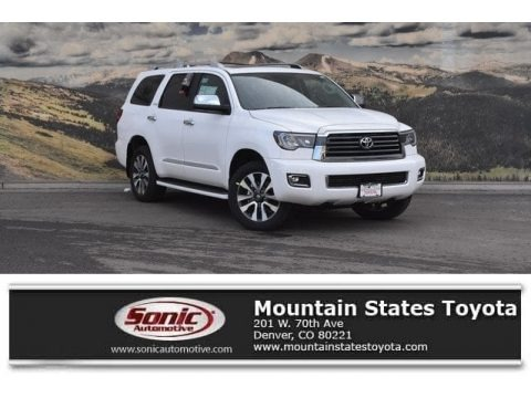 Super White 2018 Toyota Sequoia Limited 4x4