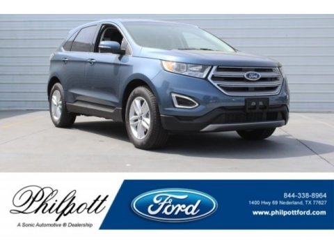 Blue 2018 Ford Edge SEL