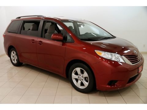 Salsa Red Pearl 2017 Toyota Sienna LE