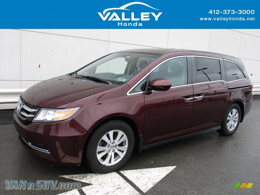 2015 Odyssey EX-L - Dark Cherry Pearl / Beige photo #1