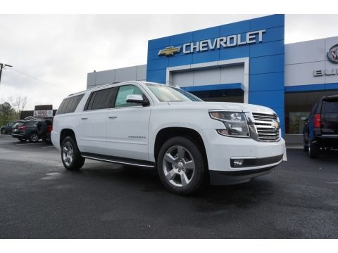 Summit White 2018 Chevrolet Suburban Premier