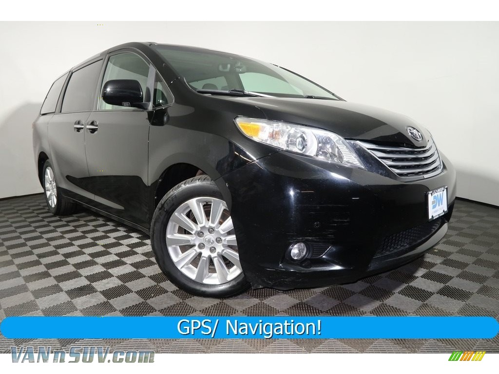 2012 Sienna Limited AWD - Black / Bisque photo #1