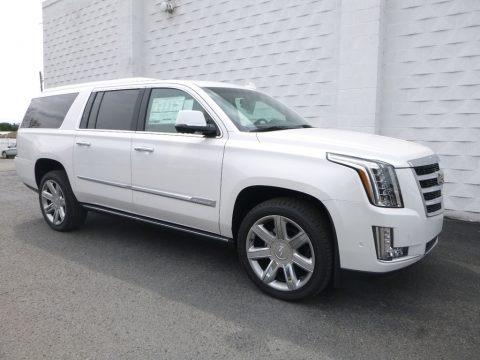 Crystal White Tricoat 2018 Cadillac Escalade ESV Premium Luxury 4WD