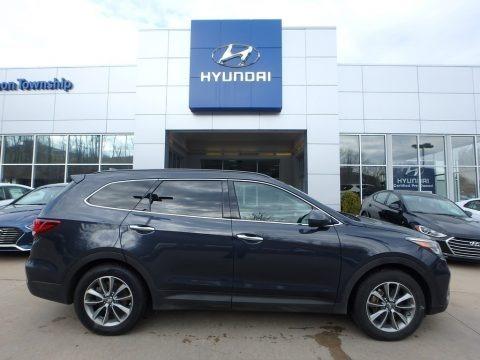 Storm Blue 2017 Hyundai Santa Fe SE AWD