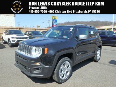 Black 2018 Jeep Renegade Limited 4x4