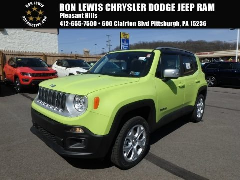 Hypergreen 2018 Jeep Renegade Limited 4x4