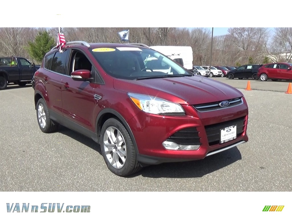 2015 Escape Titanium 4WD - Sunset Metallic / Charcoal Black photo #1