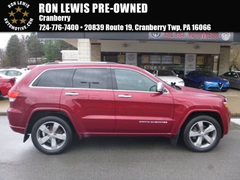 Deep Cherry Red Crystal Pearl 2014 Jeep Grand Cherokee Overland 4x4