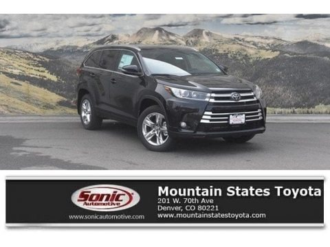 Midnight Black Metallic 2018 Toyota Highlander Limited AWD