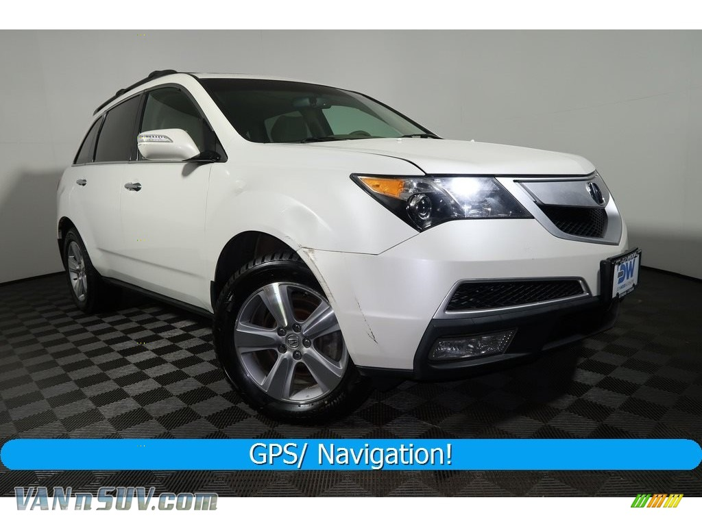 Aspen White Pearl / Ebony Acura MDX Technology