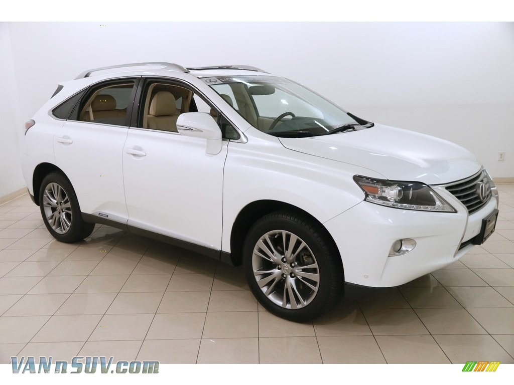 2013 RX 450h AWD - Starfire White Pearl / Parchment/Espresso Birds Eye Maple photo #1