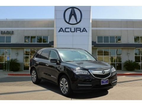 Crystal Black Pearl 2016 Acura MDX Technology