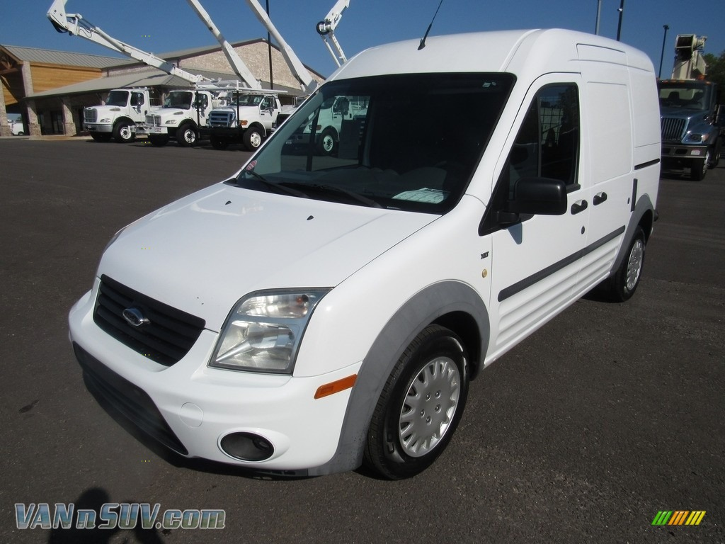 2012 Transit Connect XLT Van - Frozen White / Dark Grey photo #1