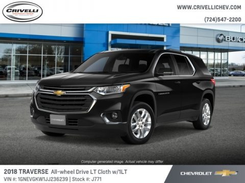 Mosaic Black Metallic 2018 Chevrolet Traverse LT AWD