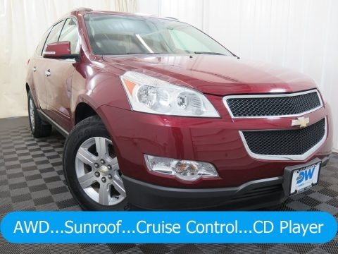 Red Jewel Tintcoat 2010 Chevrolet Traverse LT AWD
