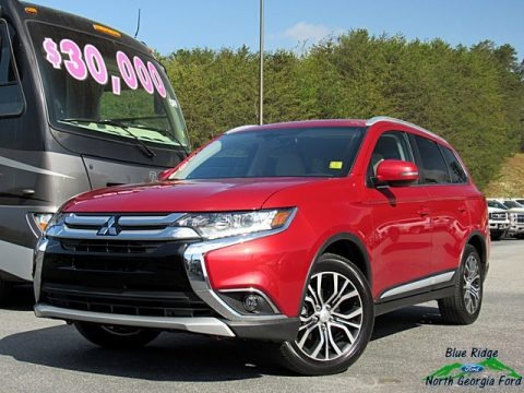 Rally Red Metallic 2018 Mitsubishi Outlander SEL