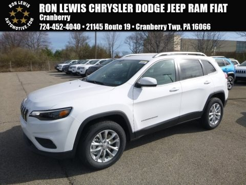 Bright White 2019 Jeep Cherokee Latitude 4x4