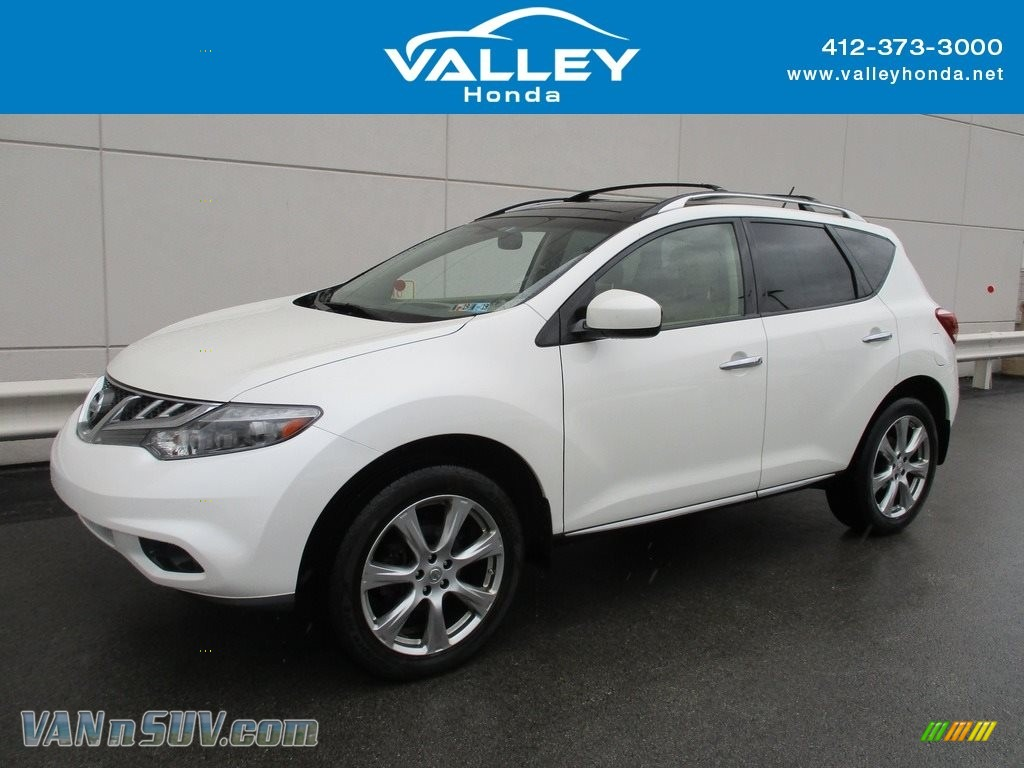 2013 Murano SV AWD - Pearl White / Beige photo #1