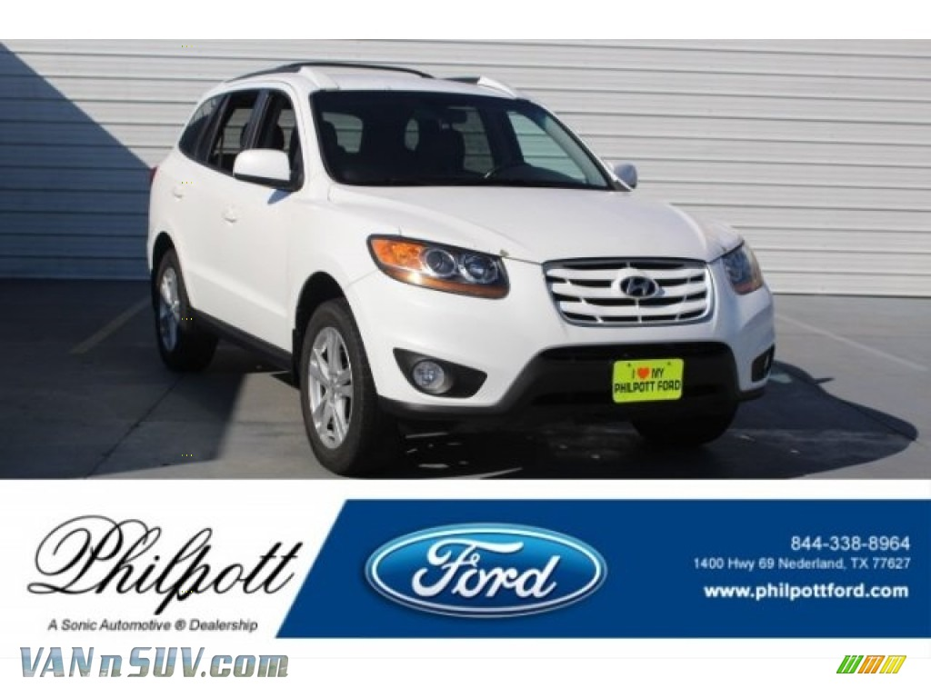 2010 Santa Fe SE - Pearl White / Cocoa Black photo #1