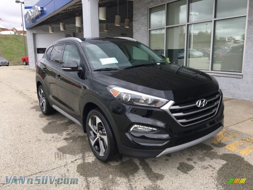 2018 Tucson Sport AWD - Black Noir Pearl / Black photo #1