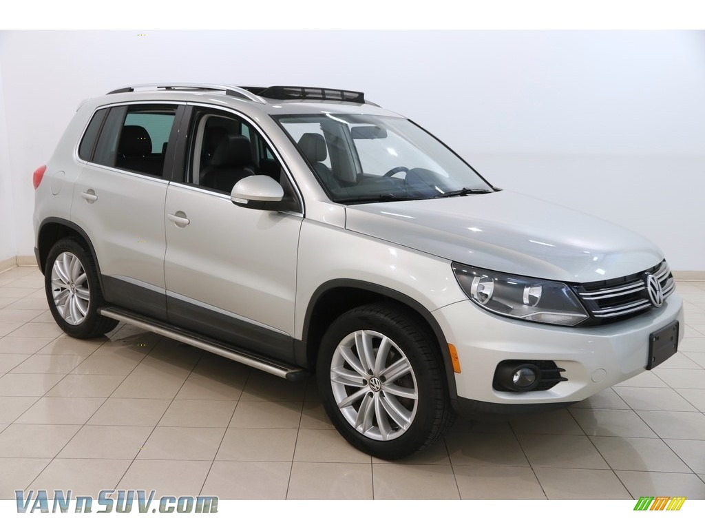 2014 Tiguan SEL - White Gold Metallic / Black photo #1