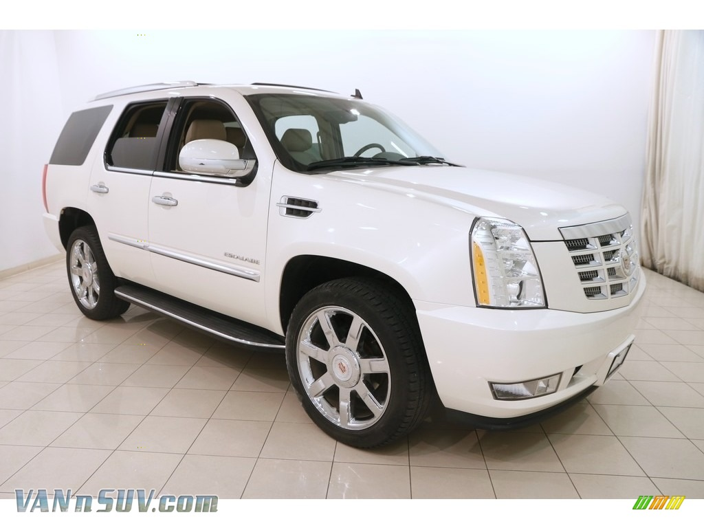 2013 Escalade Luxury AWD - White Diamond Tricoat / Cashmere/Cocoa photo #1