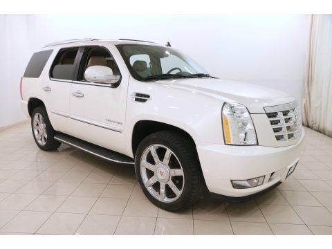 White Diamond Tricoat 2013 Cadillac Escalade Luxury AWD