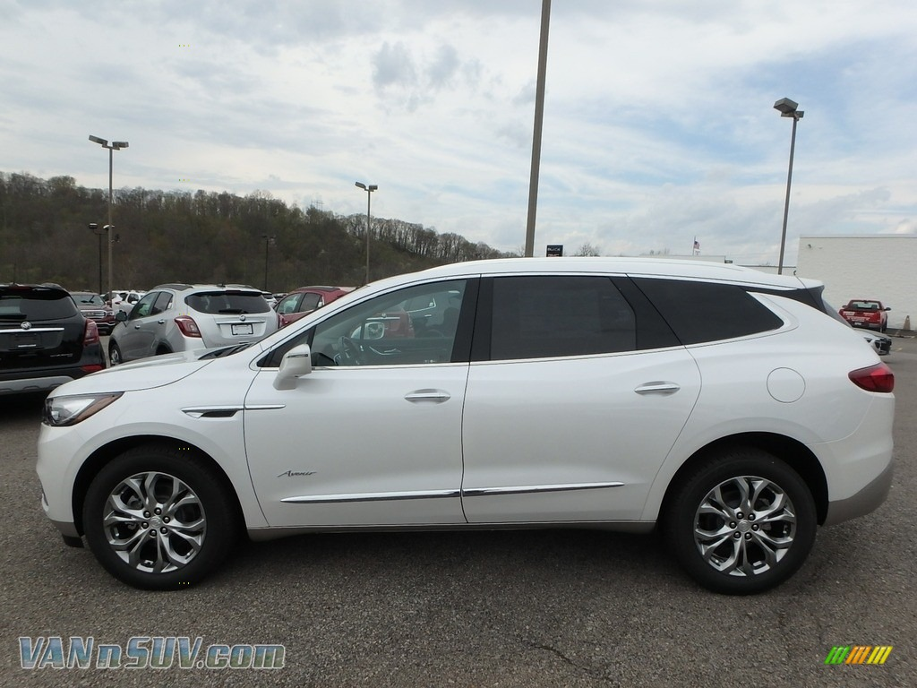2018 Enclave Avenir AWD - White Frost Tricoat / Chestnut photo #8