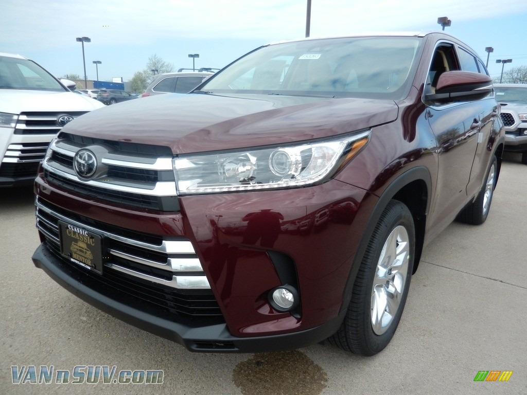2018 Highlander Limited AWD - Ooh La La Rouge Mica / Almond photo #1