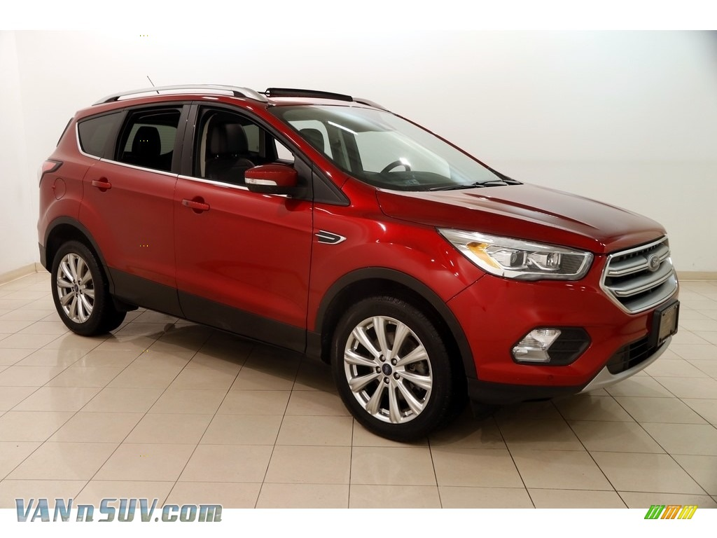 2017 Escape Titanium 4WD - Ruby Red / Charcoal Black photo #1