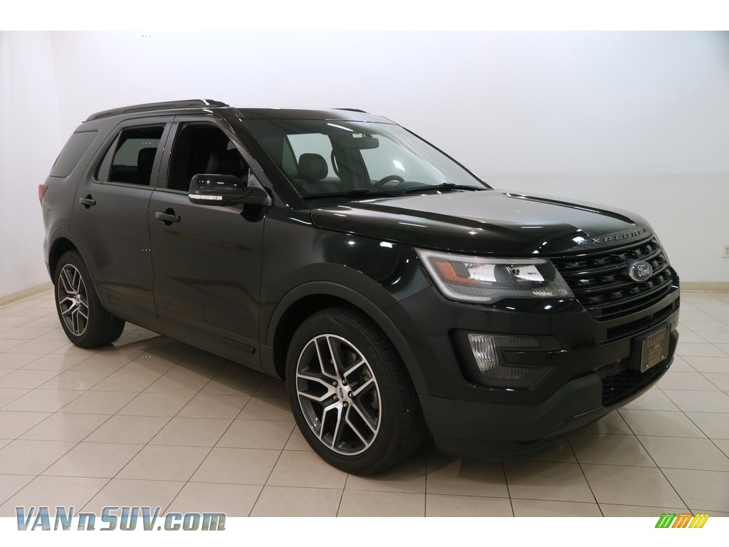 2016 Explorer Sport 4WD - Shadow Black / Ebony Black photo #1