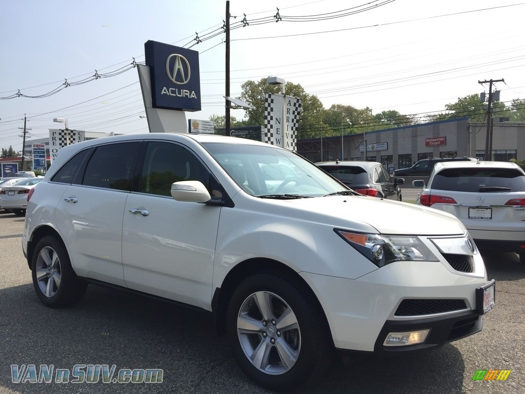 2012 MDX SH-AWD Technology - Aspen White Pearl II / Parchment photo #1