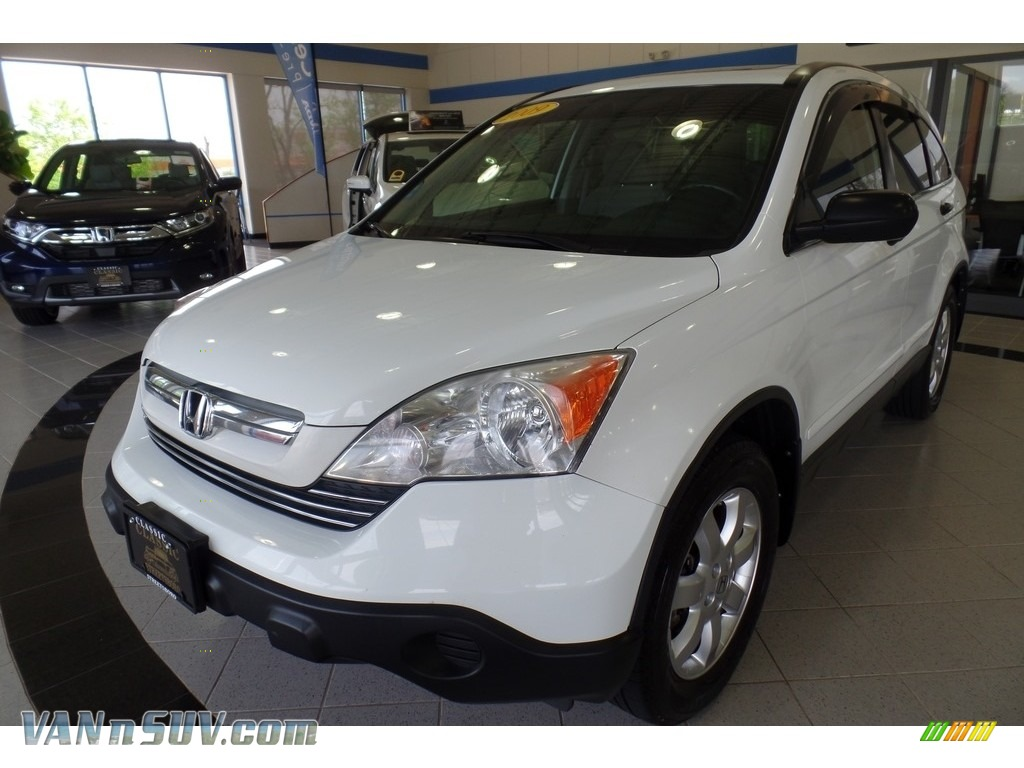 2009 CR-V EX 4WD - Taffeta White / Gray photo #1