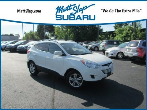 Cotton White 2012 Hyundai Tucson GLS