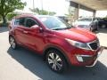 Kia Sportage EX AWD Signal Red photo #3