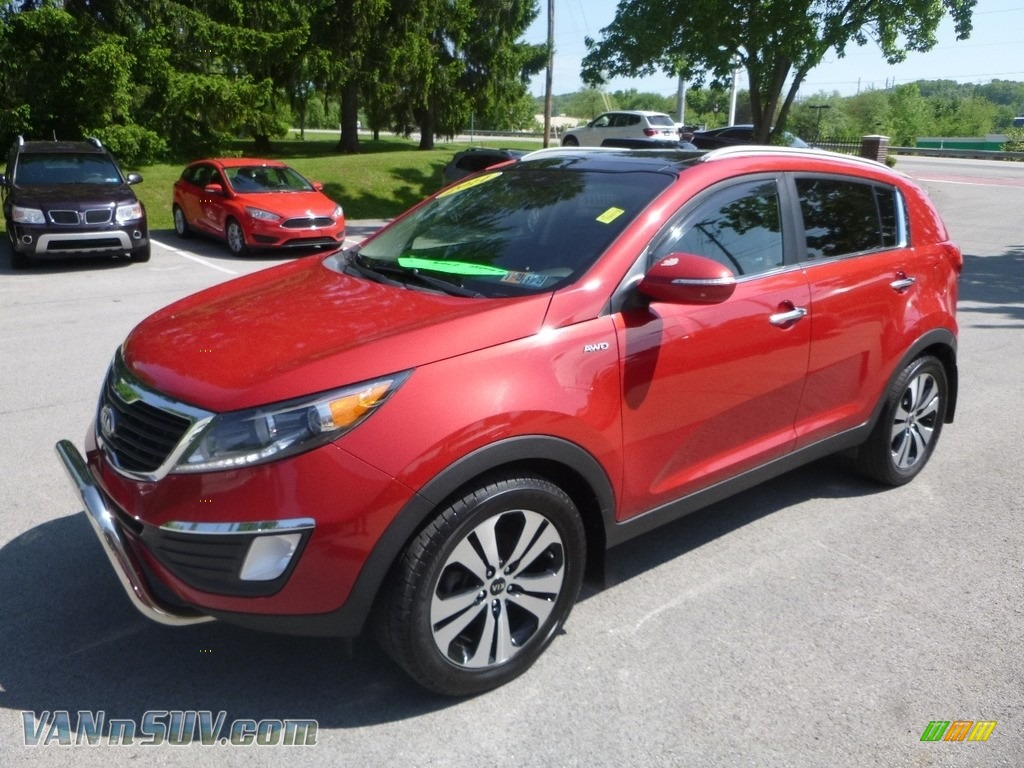 2011 Sportage EX AWD - Signal Red / Black photo #5