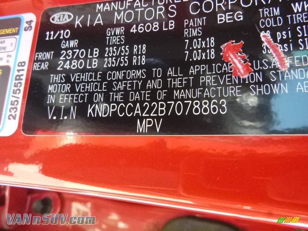 2011 Sportage EX AWD - Signal Red / Black photo #16