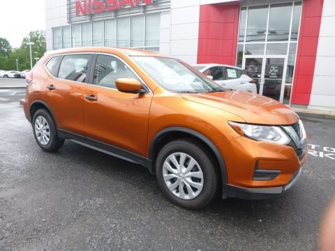 Monarch Orange 2017 Nissan Rogue S AWD