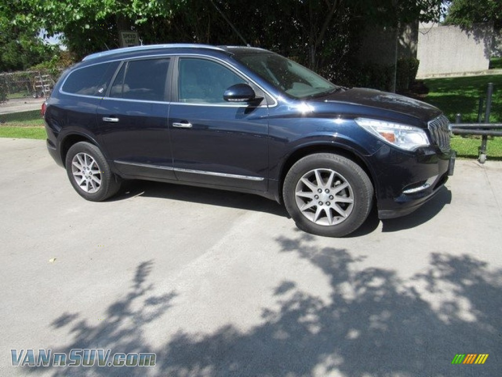 2015 Enclave Leather - Dark Sapphire Blue Metallic / Light Titanium/Dark Titanium photo #1