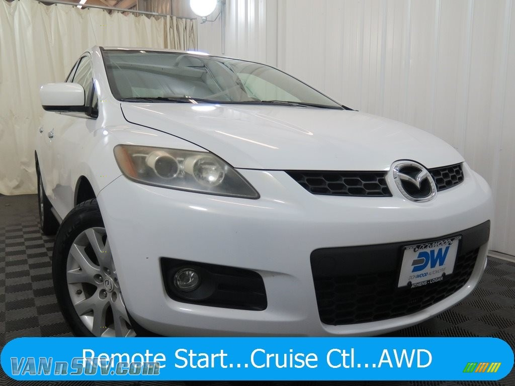 Crystal White Pearl Mica / Sand Mazda CX-7 Grand Touring
